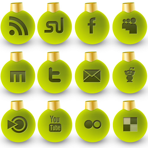 green preview 36 Free Social Media Christmas Icons