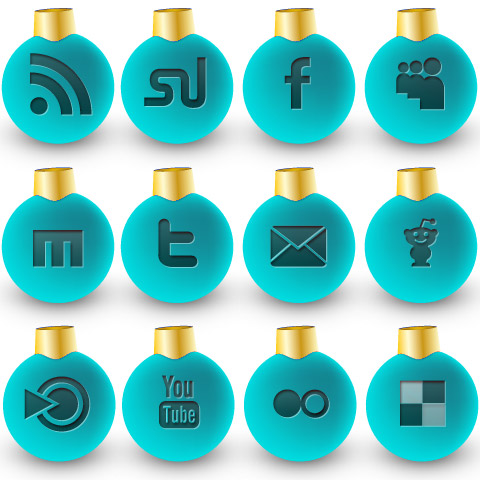 new christmas icons blue 36 Free Social Media Christmas Icons